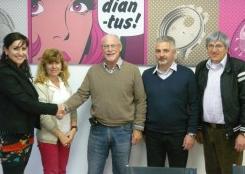 Il Sindaco Carla Bini con il direttore di Diantus sig. Paccolat