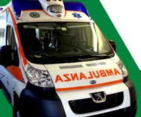 L'ambulanza di Padana Emergenza