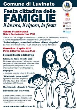 La locandina della Festa delle Famiglie