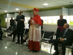 Il cardinale Angelo Scola insieme al direttore Bergamaschi