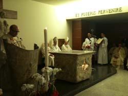 L'altare consacrato della cappella ospedaliera