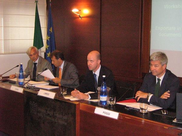 Il tavolo dei relatori al pomeriggio Verde Oro di Gallarate