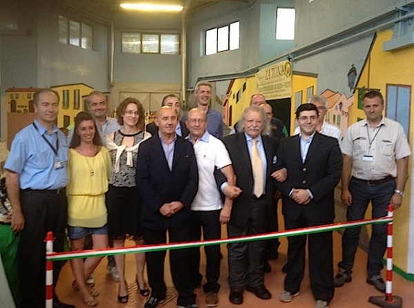 l'inaugurazione del mercatino dei produttori