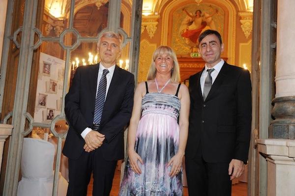 Il notaio Candore con Emanuela Crivellaro