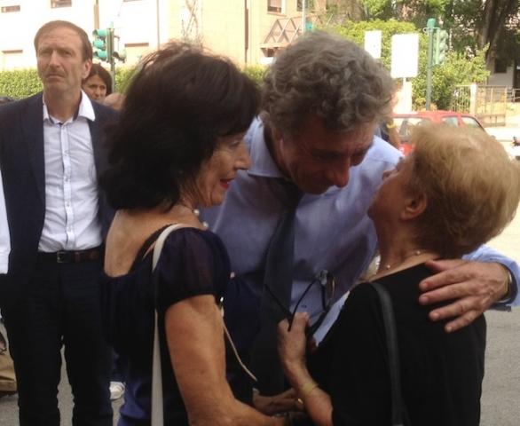 Giuseppe Bonomi ai funerali di Sergio Salvatore