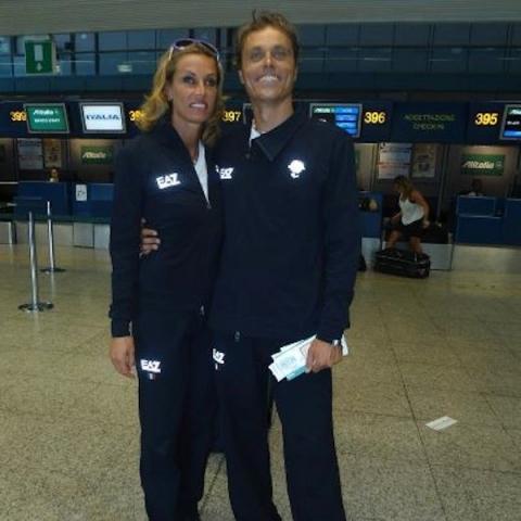Annalisa Minetti con la sua guida, Andrea Giocondi