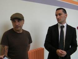 Dj Jad con l'avvocato Stefano Lucarelli