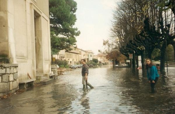 angera piena del lago 1993