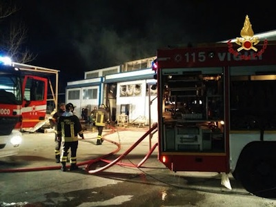 vigili del fuoco incendio colacem