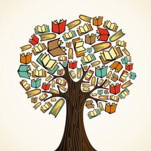 Risultati immagini per immagine albero libri