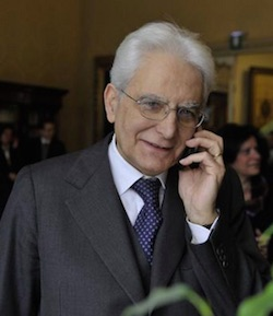 Sergio Mattarella  è il dodicesimo  Presidente della Repubblica