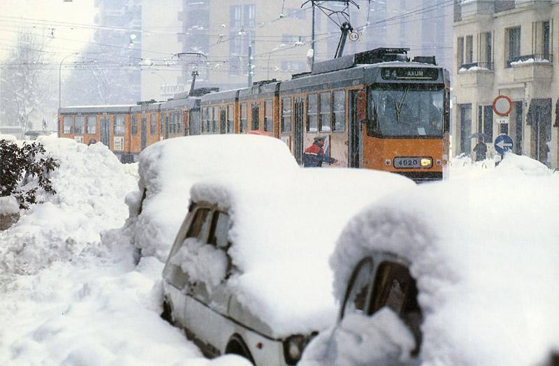 Milano nevicata 1985 nevicata del secolo