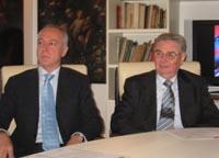 Il direttore Andrea Segrini e il Presidente Guido Ermolli