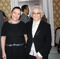 Il Prefetto Vaccari insieme a Olga Fiorini