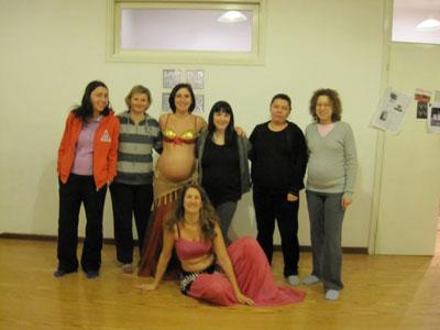 """Il gruppo """"danza del ventre in gravidanza"""""""
