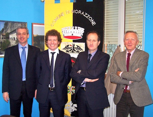 Assessore Maurizio Mazzucchelli, il sindaco Matteo Bianchi, il Presidente Ance Alberto Castelli, Il direttore Gianpietro Ghiringhelli