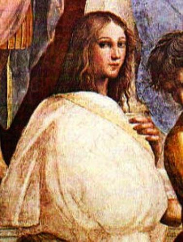 Ipazia nel dipinto di Raffaello