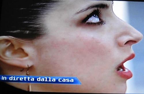 Margherita Zanatta in lacrime