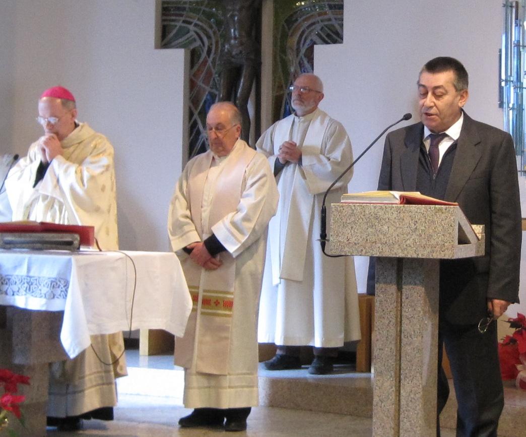 la messa: a leggere il direttore della Prealpina Giancarlo Angeleri