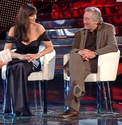 Monica Bellucci e Robert de Niro a Sanremo