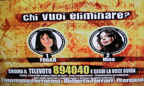 Francesca Fogar in nomination con Nina Moric