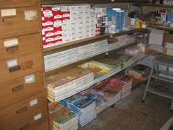 I libri stoccati in attesa dei bambini...