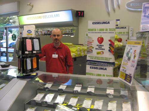 Il punto vendita libri di Esselunga di Varese