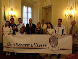 Occhiuzzi all'Open Day del Club Scherma Varese