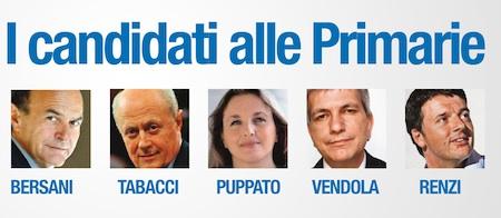 candidati primarie centrosinistra 2012