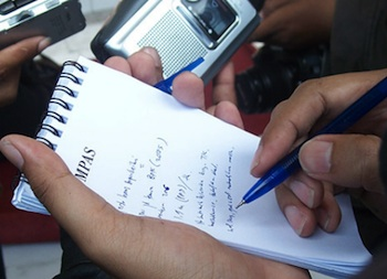 giornalista foto