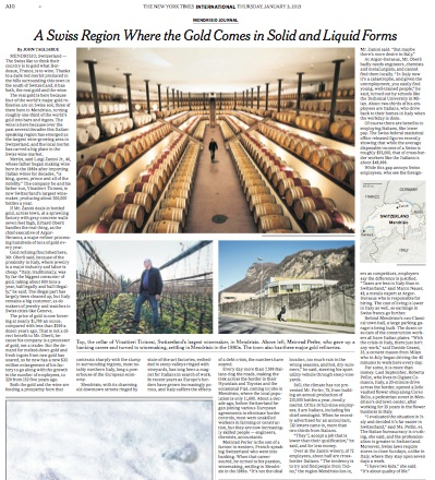 mendrisio canton ticino articolo new york times