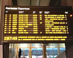 ritardi treni foto